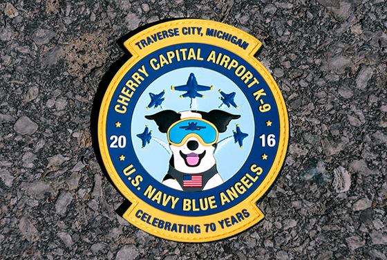 Airport K-9 Blue Angels Patch